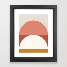 Abstract Geometric 01B Framed Art Print