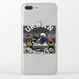 Motorcycle - Tricolor By HS Design Clear iPhone Case