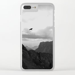 Raven in Flight Clear iPhone Case