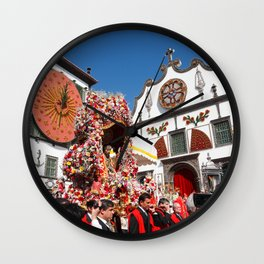 Religious festival in Azores Wall Clock