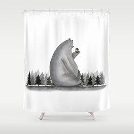 Giant Bear Shower Curtain