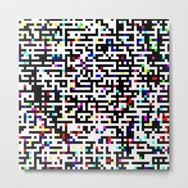 Abstract 8 Bit Pattern Metal Print
