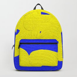 Spring in yellow on blue Backpack