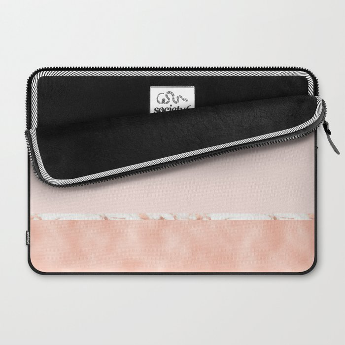 Peaches and cream marble Laptop Sleeve