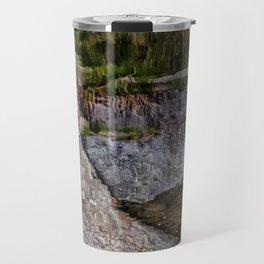 Granite reflection on a quarry in Rockport Travel Mug