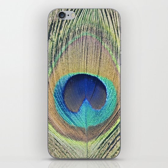 Peacock Feather No.2 iPhone Skin