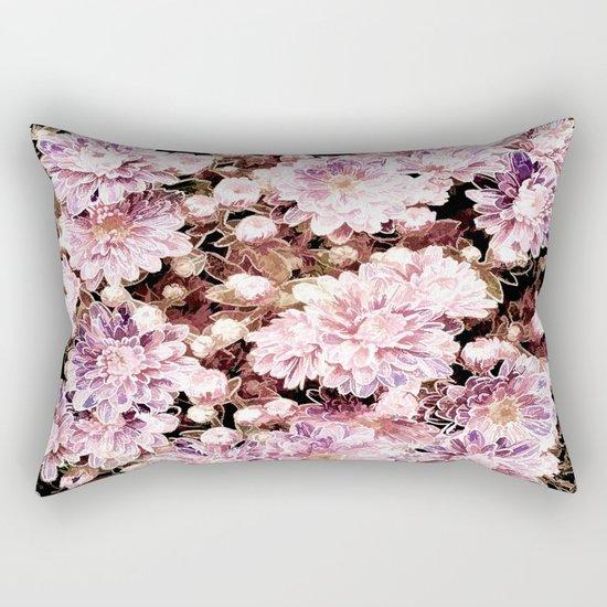 Rose And Gold Floral Rectangular Pillow