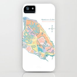 Mackinac Island Map : pastels iPhone Case