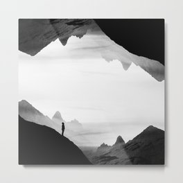 black wasteland isolation Metal Print