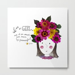 I'm a Girl Metal Print