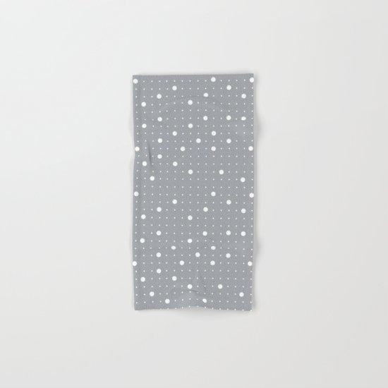 Pin Points Grey Hand & Bath Towel