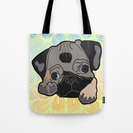 Adorable and Mischievous Pug Tote Bag