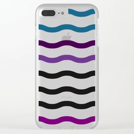 Satin Waves Clear iPhone Case