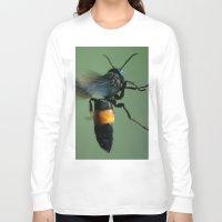 bali Long Sleeve T-shirts featuring Bali Bee by Adam Latham Photography