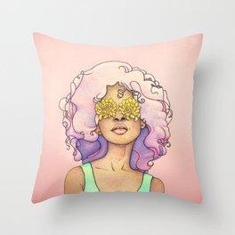 Flowered Sight Throw Pillow
