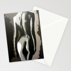 Abstract Female Silhouette Sepia toned Shadows Light study Stationery Cards