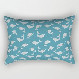 Narwhals Under the Sea Rectangular Pillow