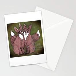 Two Foxes - B Stationery Cards