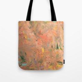 Baesic Coral Paint Smears Tote Bag
