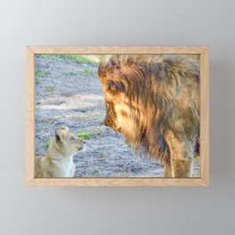 The King and His Cub Framed Mini Art Print