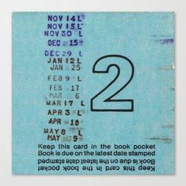 Ilium Public Library Card No. 2 Canvas Print
