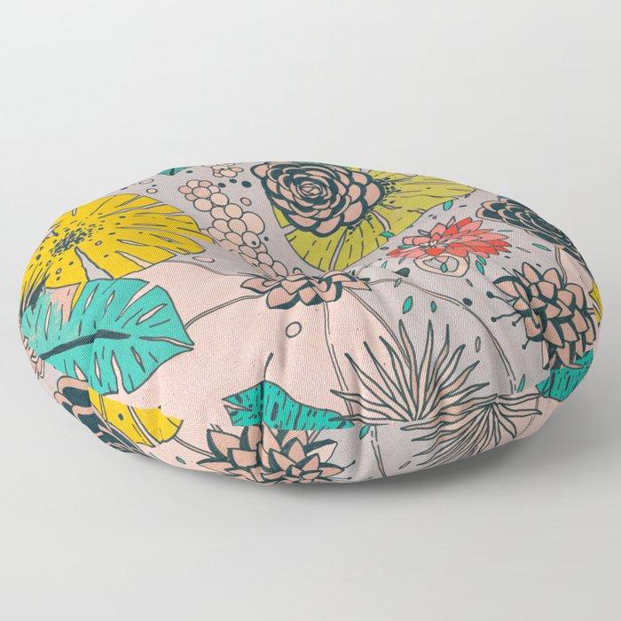 Olga loves flowers Floor Pillow