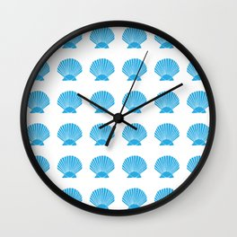 Blue Seashell Wall Clock
