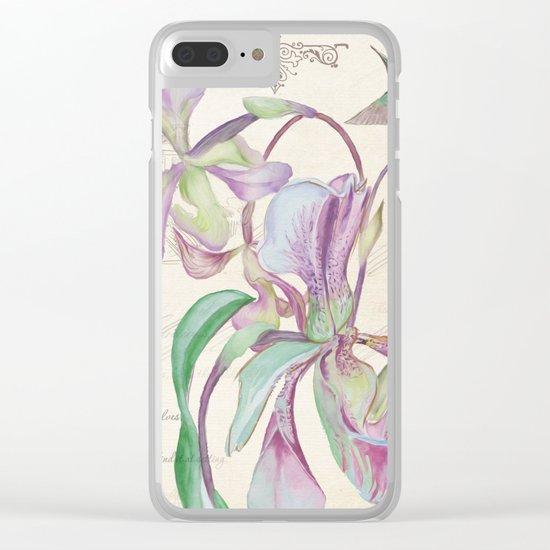 Macro flower #12 Clear iPhone Case