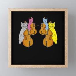Cello Cats Violin Violin Musicians Music Framed Mini Art Print