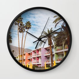 Palm Springs Pool Day VII Wall Clock