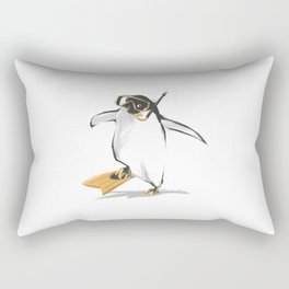Penguin Is Ready To Dive Rectangular Pillow