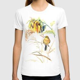 Yellow Bird and Sunflowers, Yellowhammer T-shirt
