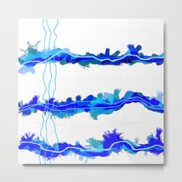 Fluffy lines twisting and turning no. 21 Metal Print
