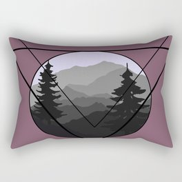 Mountain Peace Rectangular Pillow