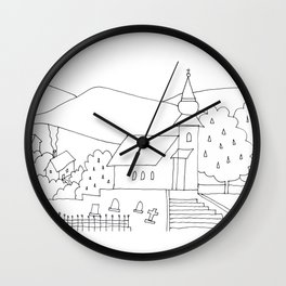 Little Village with Church No.: 02. Wall Clock