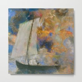 Flower Clouds - Odilon Redon Metal Print