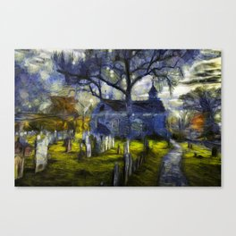 Sleepy Hollow Church Art Van Gogh Canvas Print