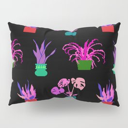 Simple Potted Plants in Black Pillow Sham