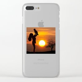Mother's Day T-Shirt Clear iPhone Case