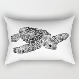 Sea Turtle Watercolor Art Rectangular Pillow