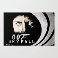 skyfall Canvas Prints featuring Skyfall by Kelly N. Gin