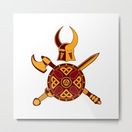 Norse War Icon Metal Print