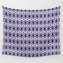 Purple Eyes Wall Tapestry