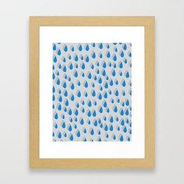 3D Water Drops Framed Art Print