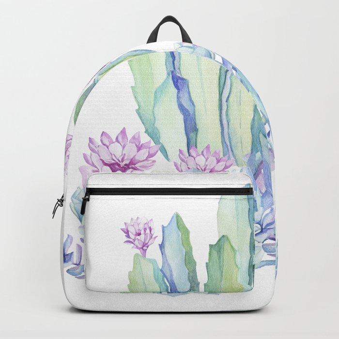Mixed Cacti White #society6 #buyart Backpack