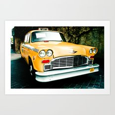 Yellow Cab (2) Art Print