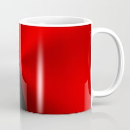 Slick masculine black and red metallic design Coffee Mug