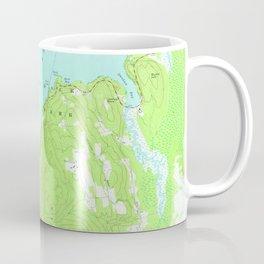 Vintage Map of Lake George New York (1966) 2 Coffee Mug