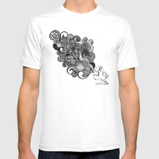 the vomit White MEDIUM Mens Fitted Tee