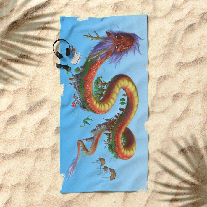 World Dragon Beach Towel